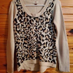 Med beige animal front sweater